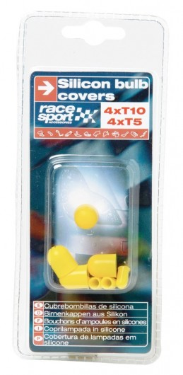 CACHES AMPOULES T5+T10 SILICONE JAUNES - FDS