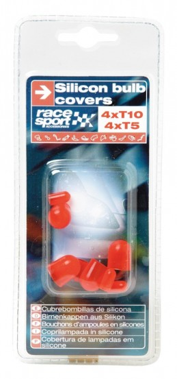 CACHES AMPOULES T5+T10 SILICONE ROUGES - FDS