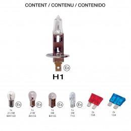 COFFRET AMPOULES HOMOLOGUES 12V H1