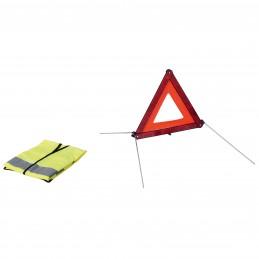 KIT 1 TRIANGLE + 1 GILET DE SECURITE HOMOL E11
