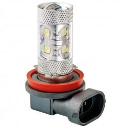 AMPOULE LED 12/24V 50W H11 BLANC - 1PCE - SCT