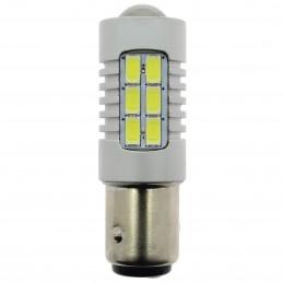 AMP.LED S600 12/24V P21/5W BAY15D 2 PLOTS CANBUS-6500K BLANC PURE-1PC