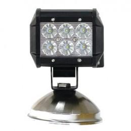 18W LED BAR LIGHT 6 LEDS - 6000K BLANC PURE - 2PCS